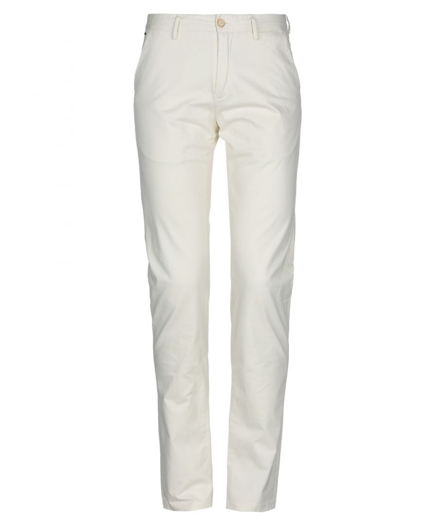 Image for Scotch & Soda Ivory Cotton Chino Trousers