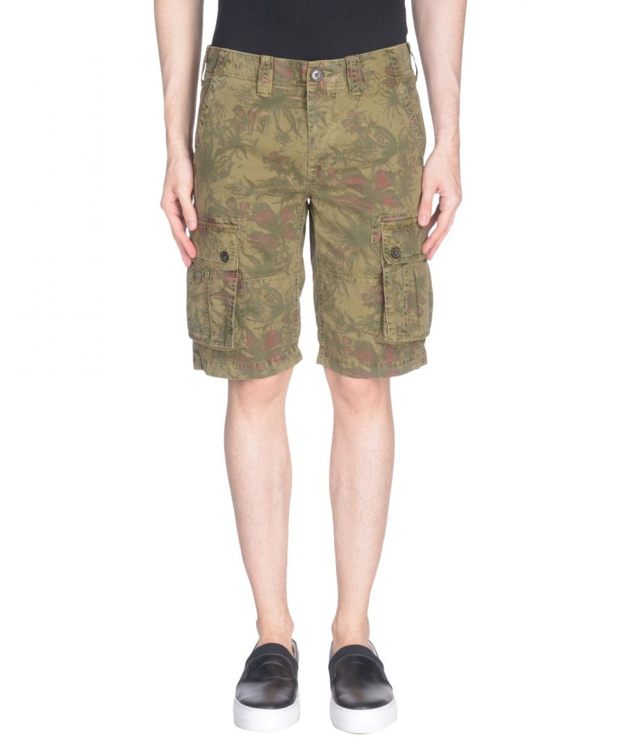Image for Pepe Jeans Military Green Cotton Shorts