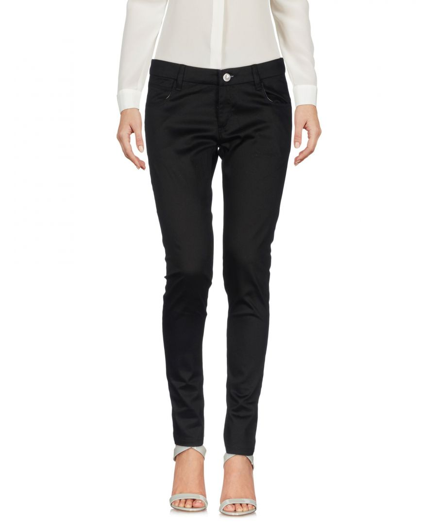 Image for Cafenoir Black Cotton Trousers