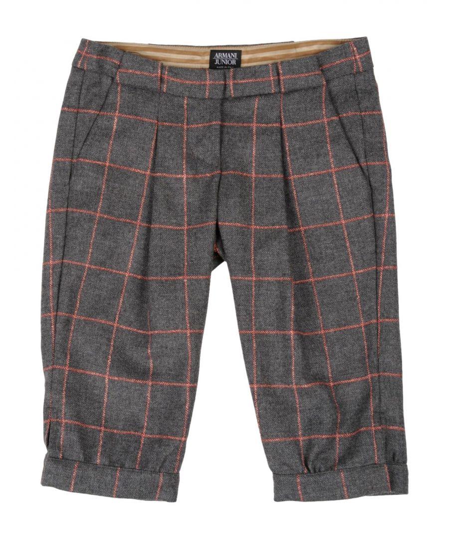 Image for Armani Junior Grey Boy Virgin Wool Trousers
