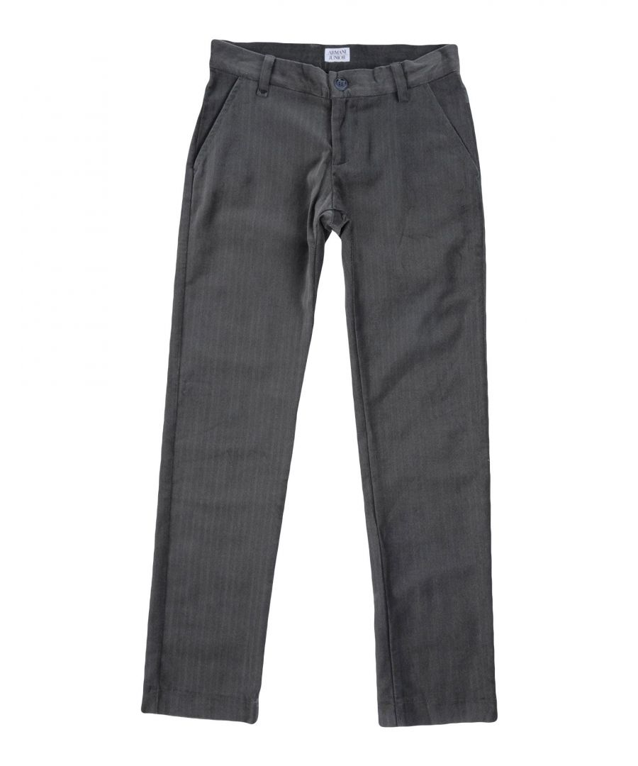 Image for Armani Junior Steel grey Boy Cotton Trousers