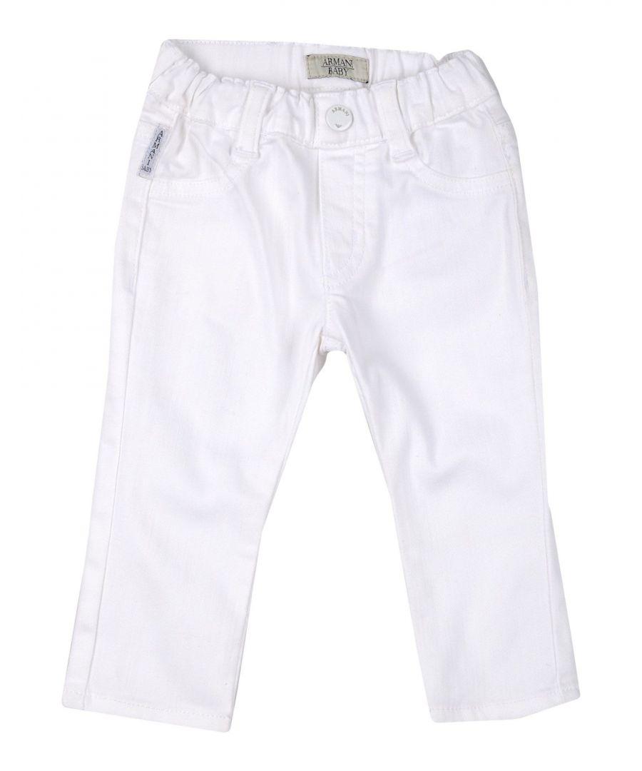 Image for DENIM Armani Junior White Boy Cotton