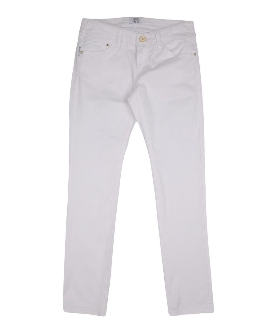 Image for Armani Junior White Girl Cotton Trousers