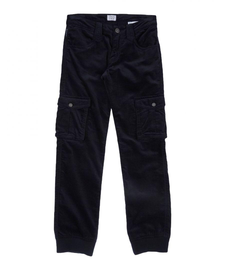 Image for TROUSERS Armani Junior Dark blue Boy Cotton