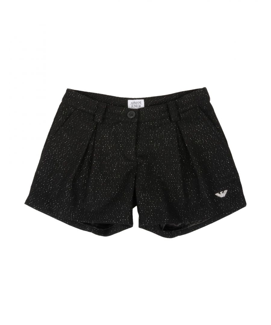 Image for Armani Junior Black Girl Wool Shorts