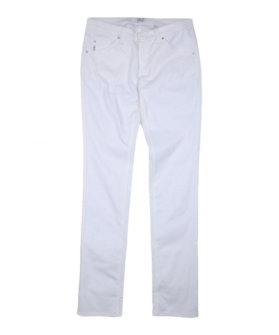 Image for Armani Junior White Girl Cotton Trousers