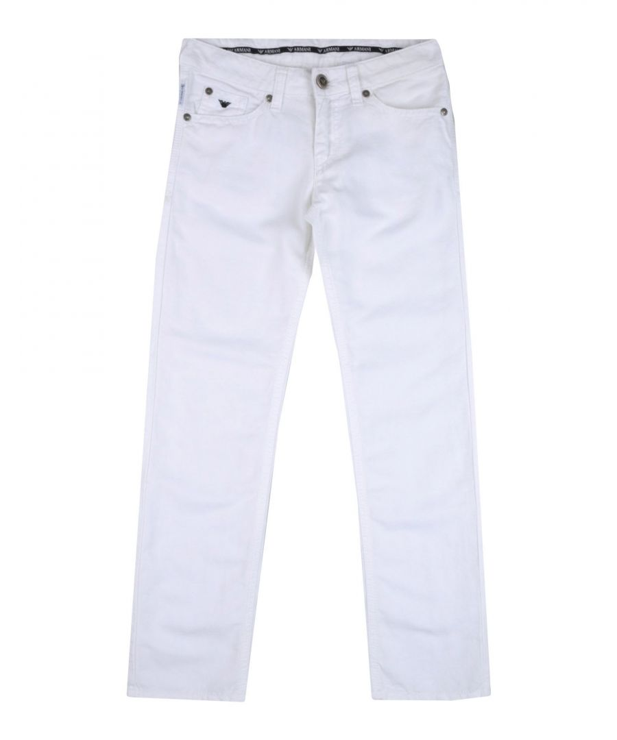 Image for Armani Junior White Boy Cotton Trousers