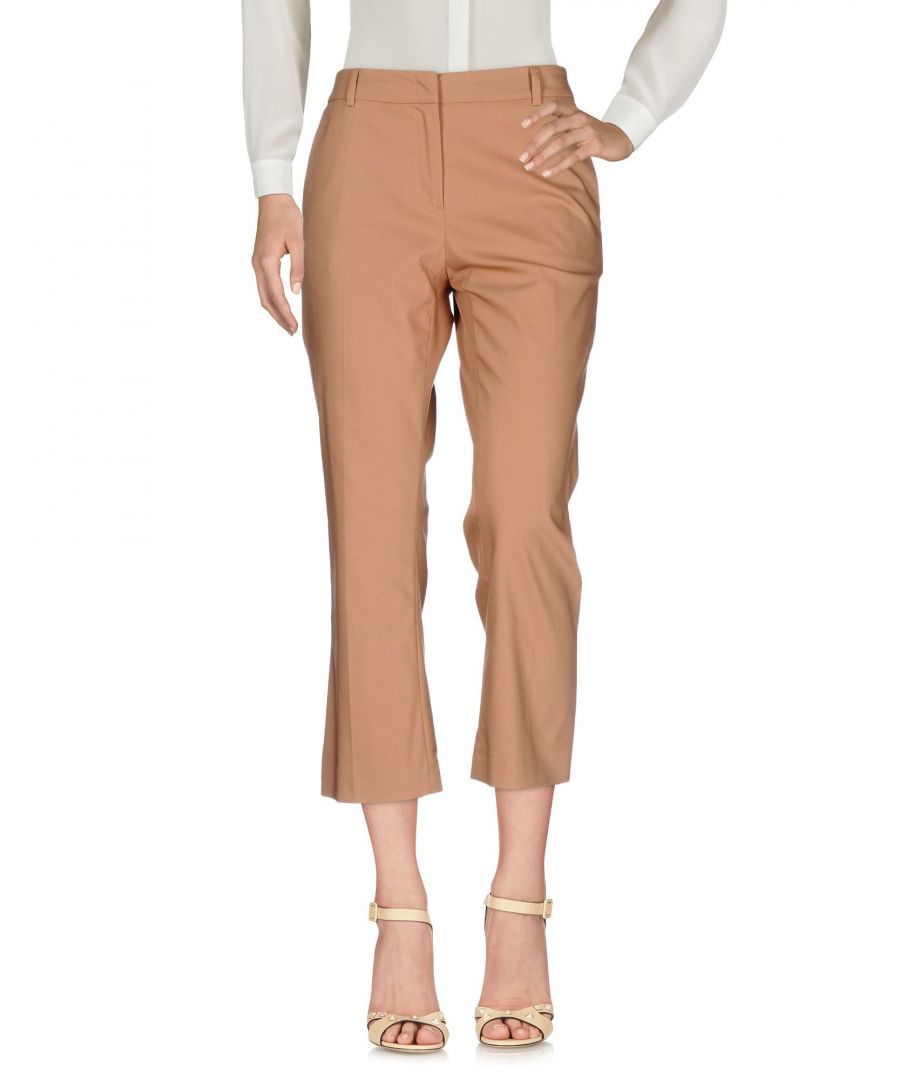 Image for F.It Brown Cotton Cropped Trousers