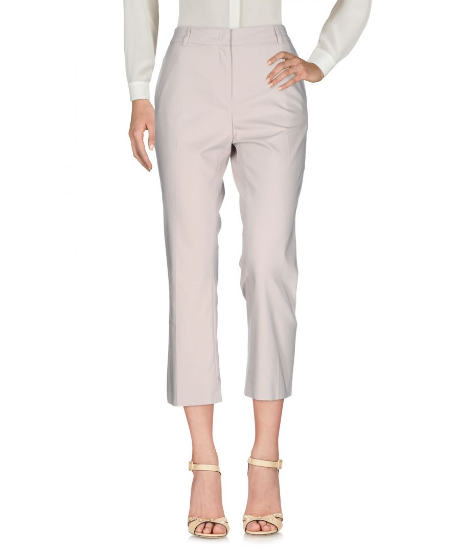 Image for F.It Beige Cotton Cropped Trousers