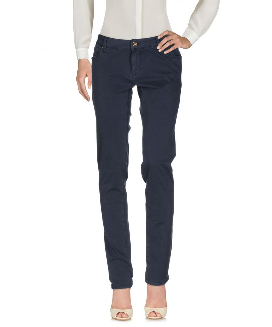 Image for M Missoni Dark Blue Cotton Straight Leg Trousers