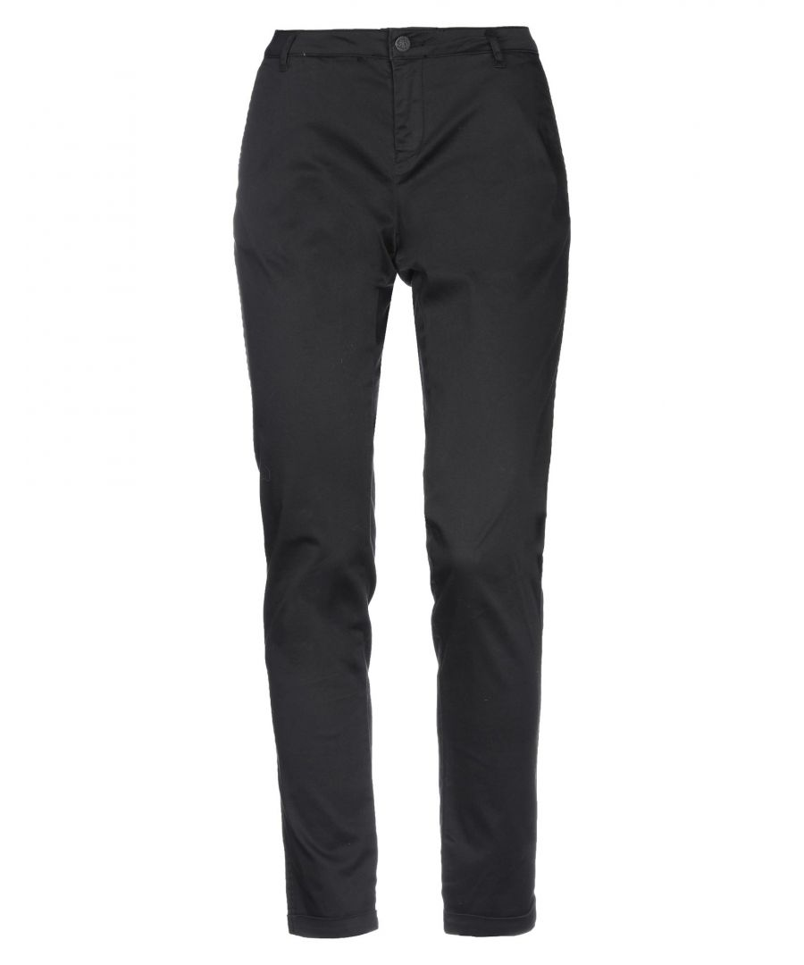Image for Maison Scotch Black Cotton Tapered Leg Chino Trousers