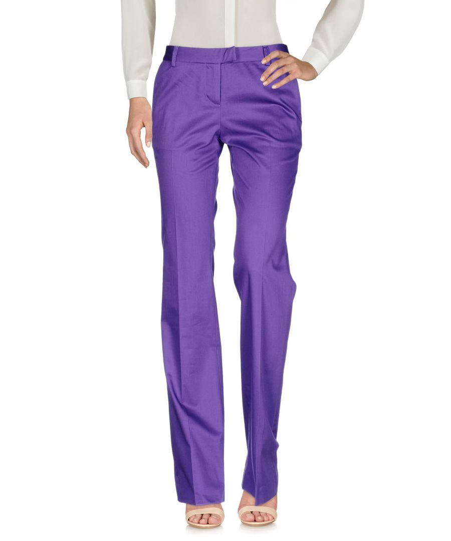 Image for Just Cavalli Purple Cotton Tailored Trousers
