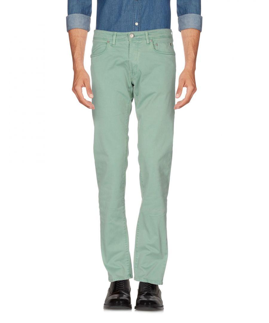 Image for Siviglia White Light Green Cotton Trousers