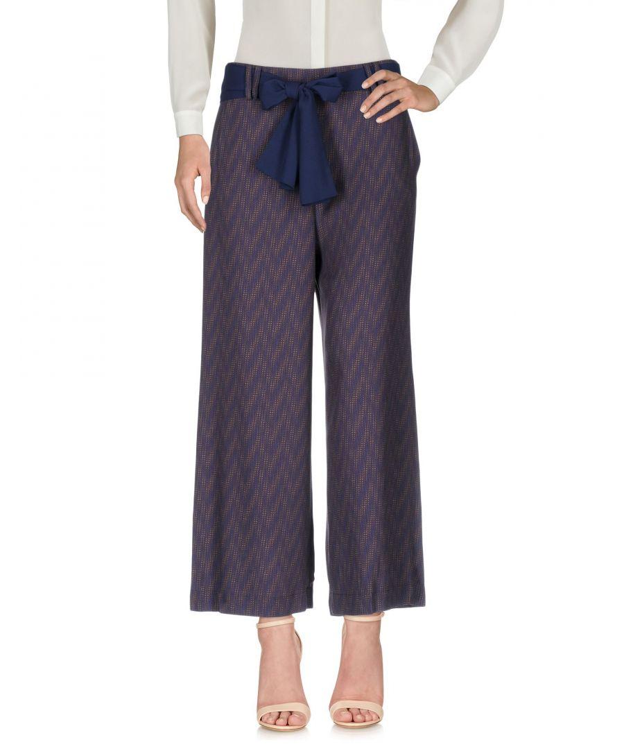 Image for Patrizia Pepe Purple High Waisted Wide Leg Trousers