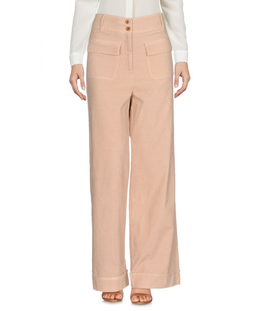 Image for Sessun Sand Cotton Wide Leg Trousers