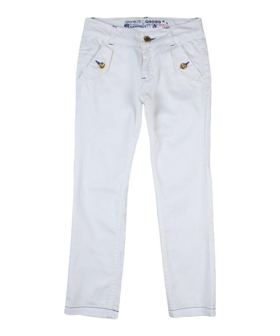Image for Simonetta Jeans White Girl Cotton Trousers