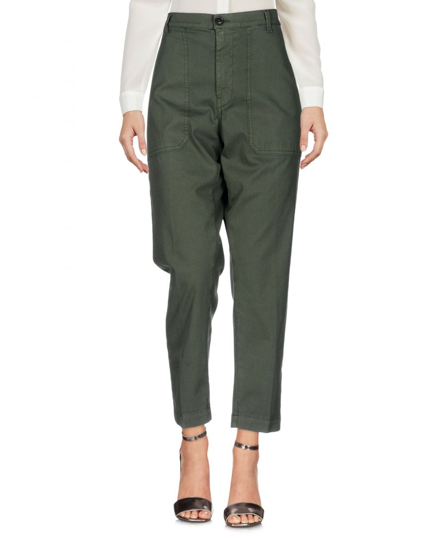 Image for True Nyc� Military Green Cotton Trousers