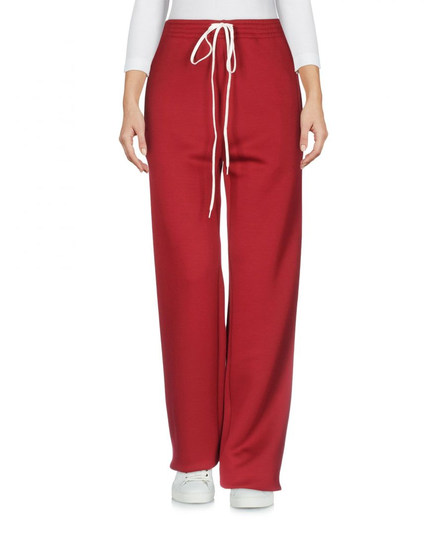 Image for Chloe Maroon Silk Wide Leg Trousers
