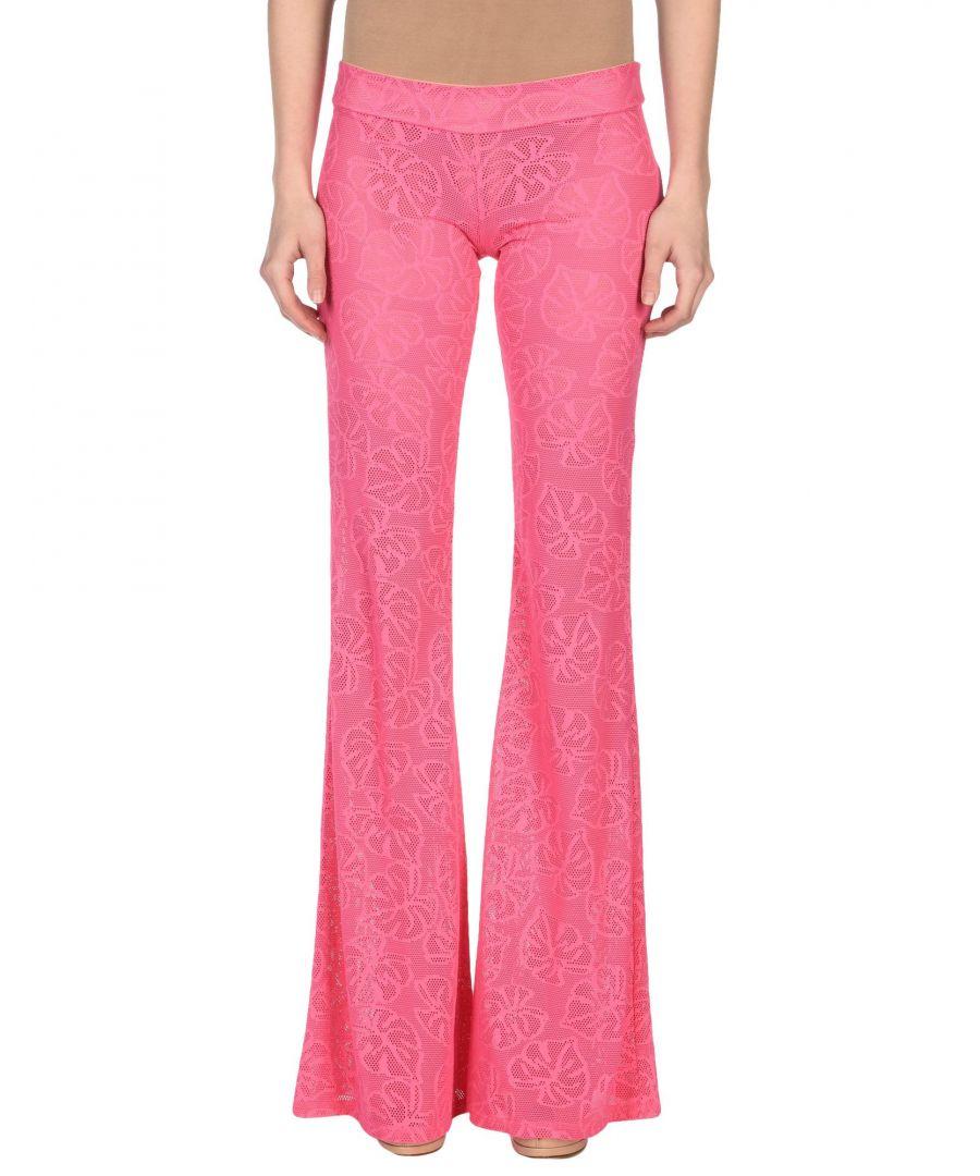 Image for Fisico Fuchsia Lace Flare Trousers