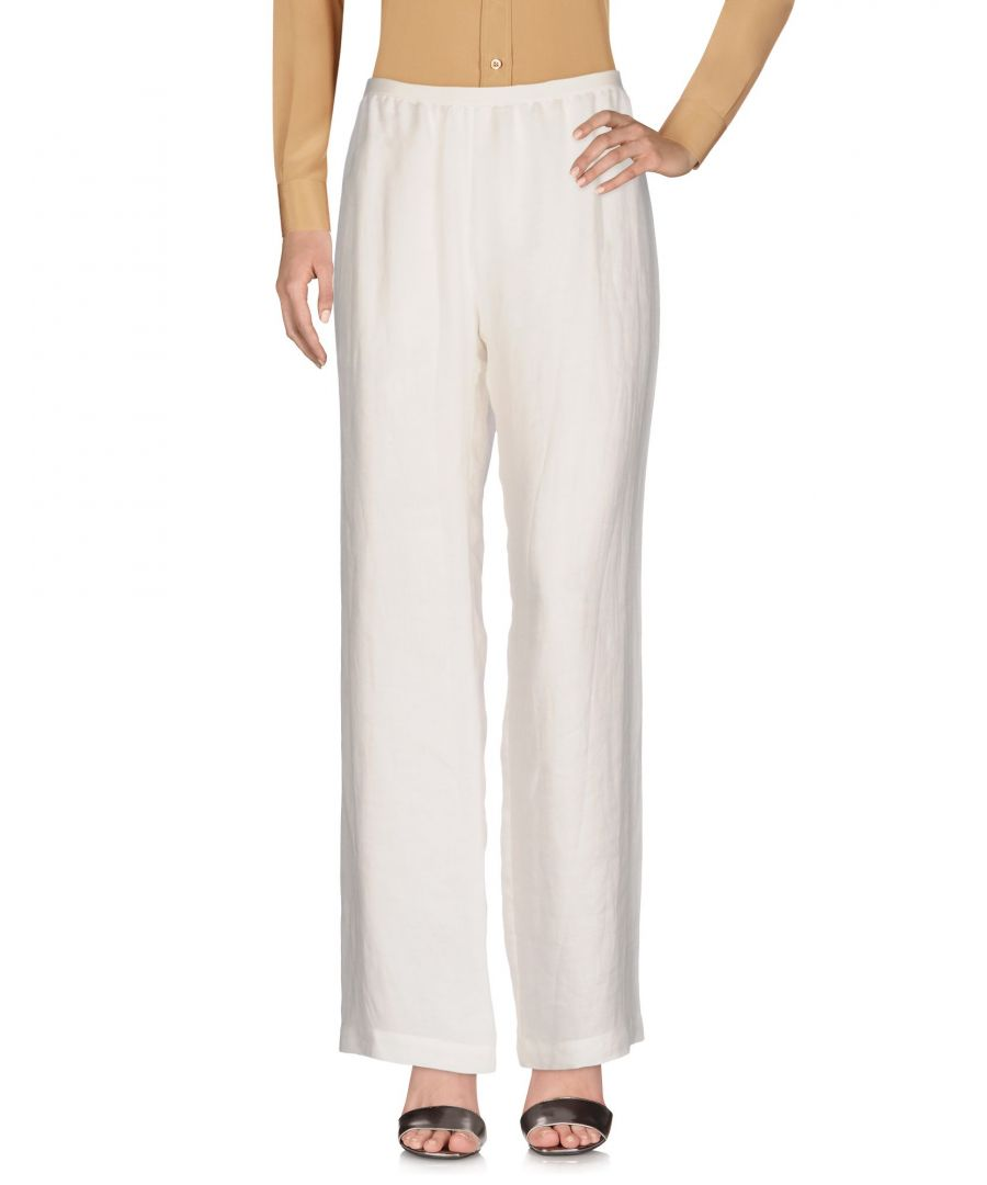 Image for Gentryportofino Ivory Silk Wide Leg Trousers