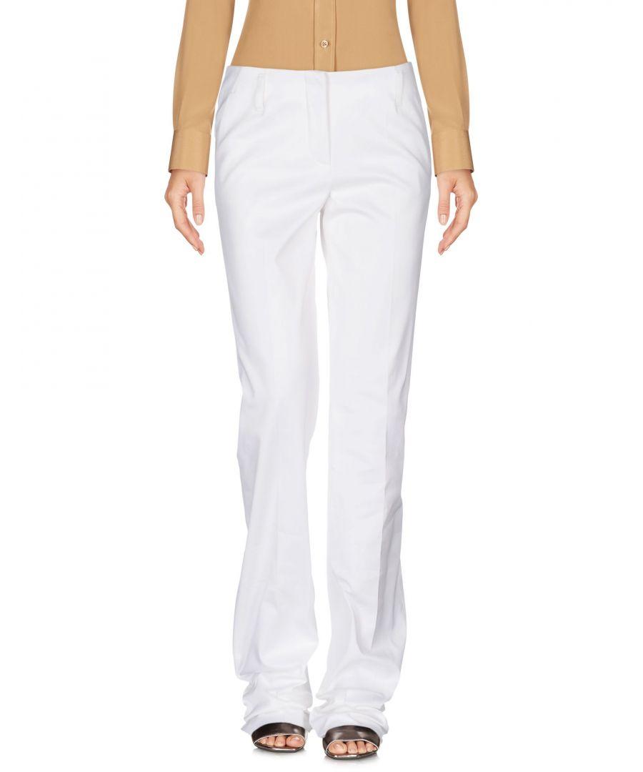 Image for Emilio Pucci White Cotton Wide Leg Tailored Trousers