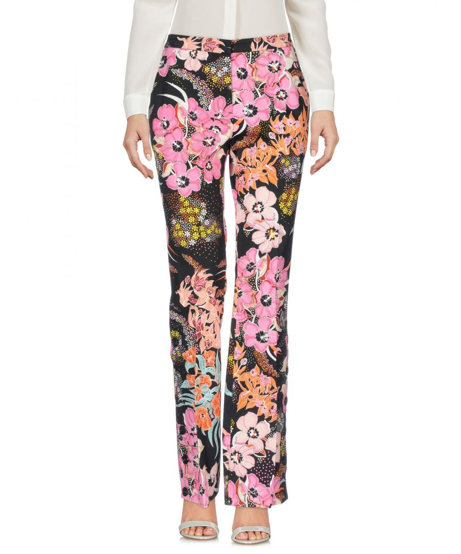 Image for Just Cavalli Black Print Cotton Trousers