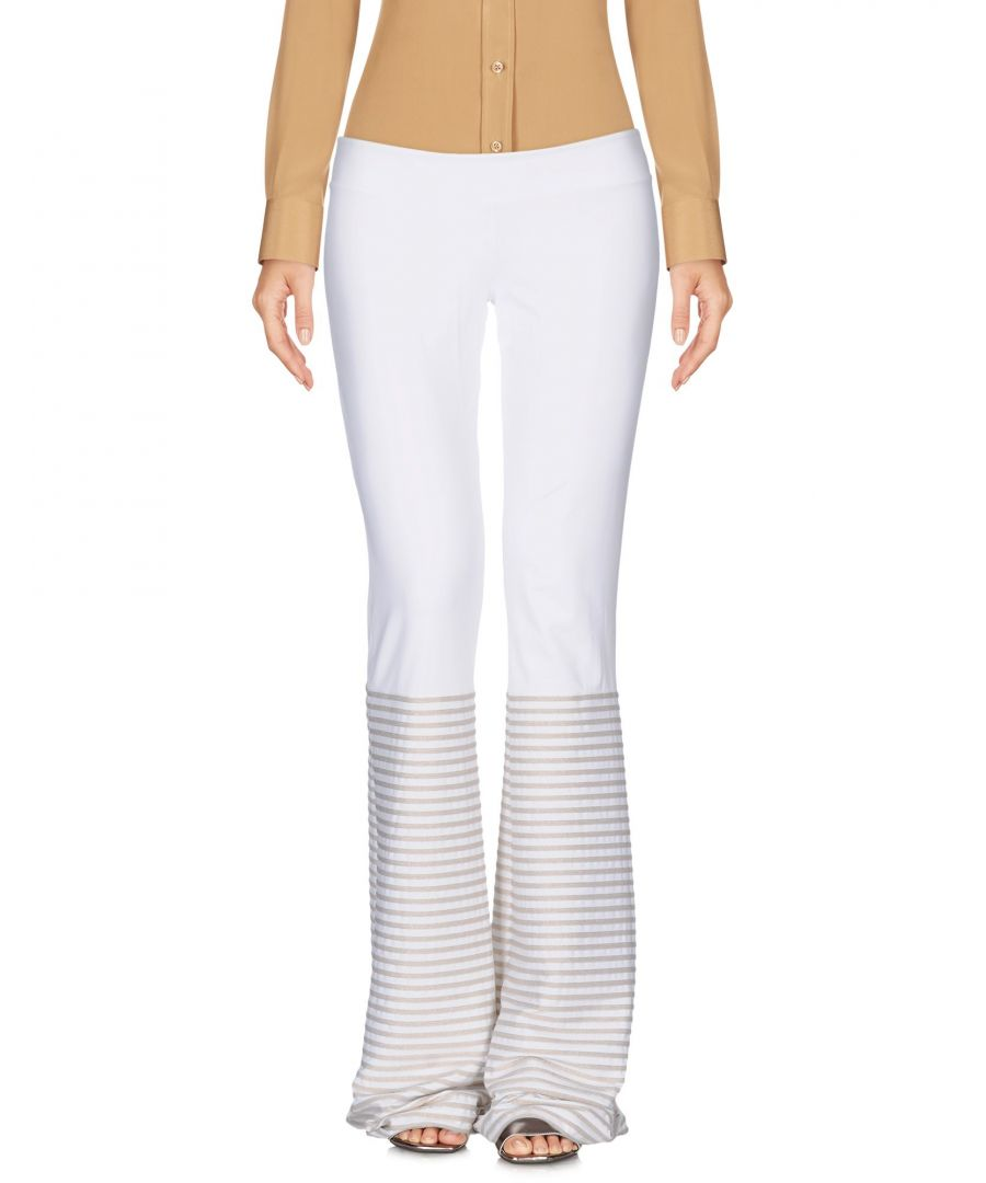 Image for Fisico White Flare Trousers