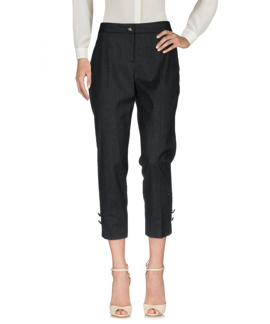 Image for Dolce & Gabbana Steel Grey Wool Cropped Tailored Trousers