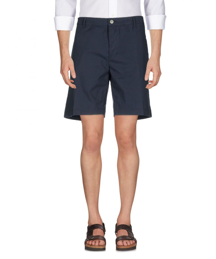 Image for Siviglia White Dark blue Cotton Bermuda shorts