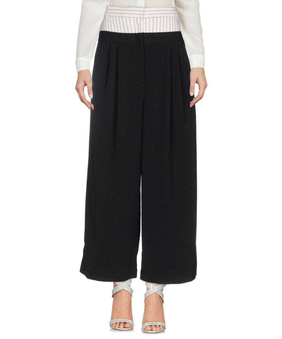 Image for Tibi Black Tailored Wide Leg Trousers