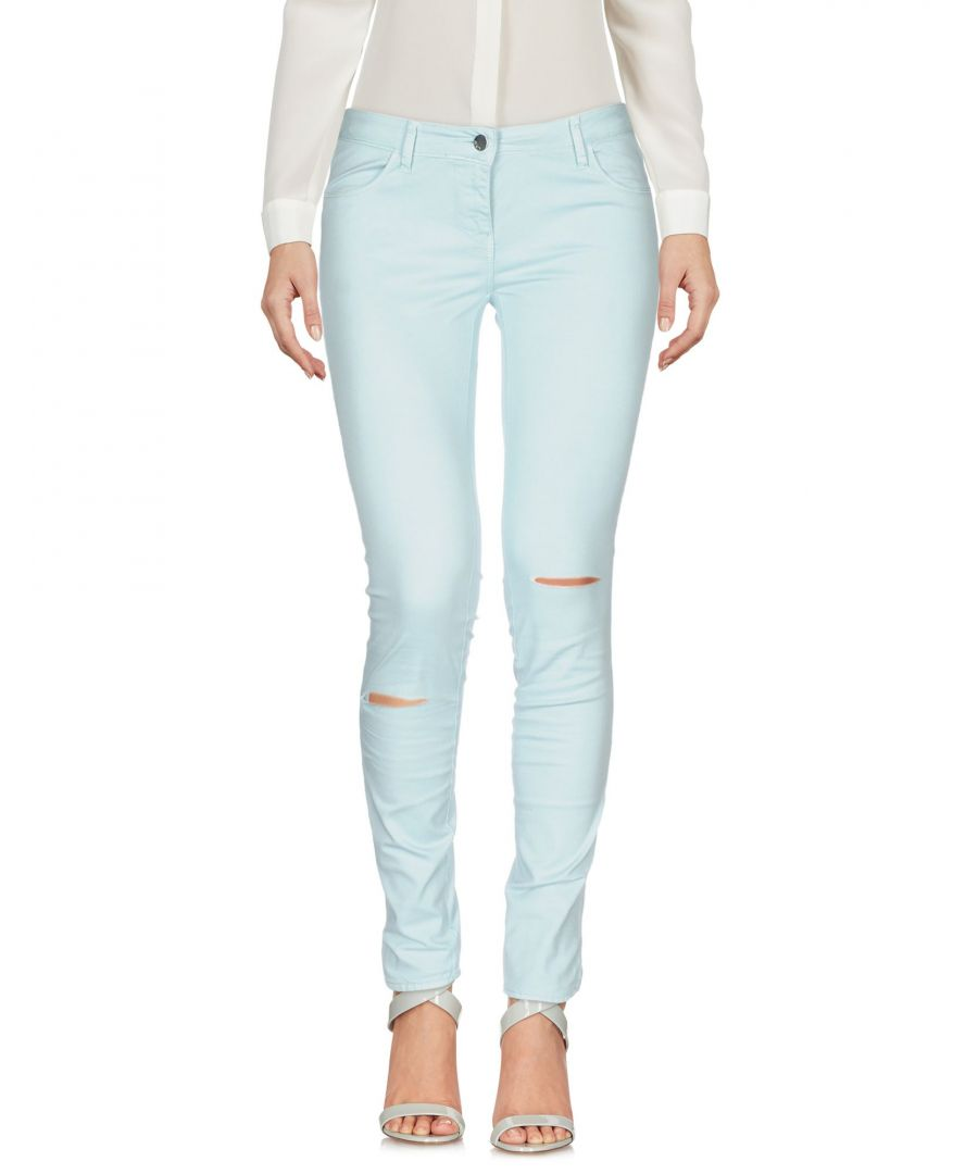Image for Met Jeans Pale Blue Cotton Tapered Leg Trousers