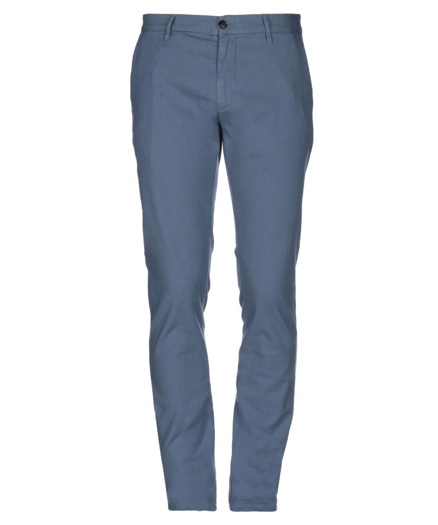 Image for Armani Jeans Slate Blue Cotton Trousers