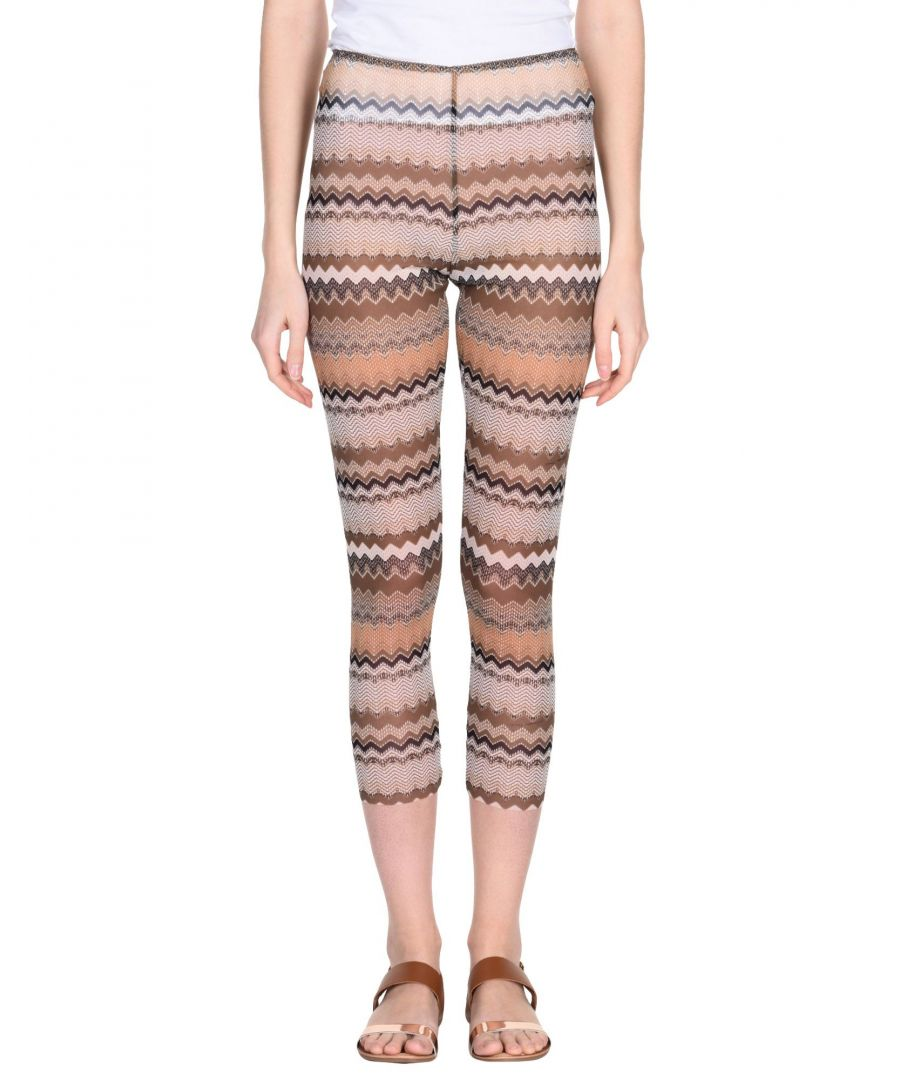 Image for Elisabetta Franchi Khaki Pattern Sheer Leggings