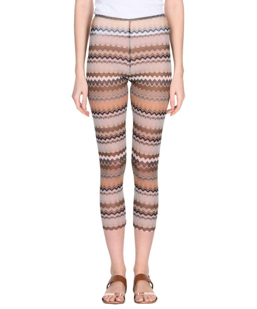 Image for Elisabetta Franchi Khaki Pattern Sheer Leggings