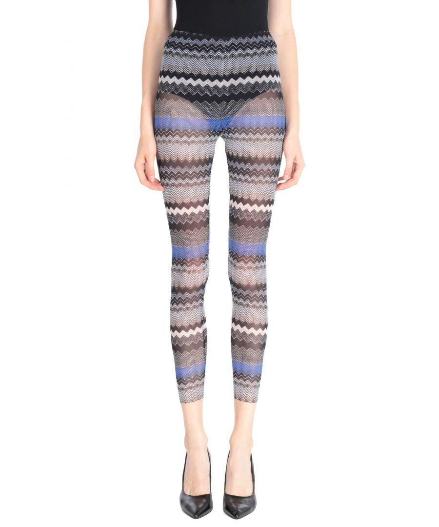 Image for Elisabetta Franchi Black Stripe Sheer Leggings