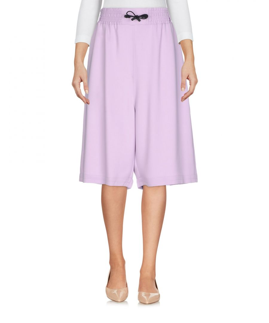 Image for Versus Versace Lilac Crepe Cropped Wide Leg Trousers