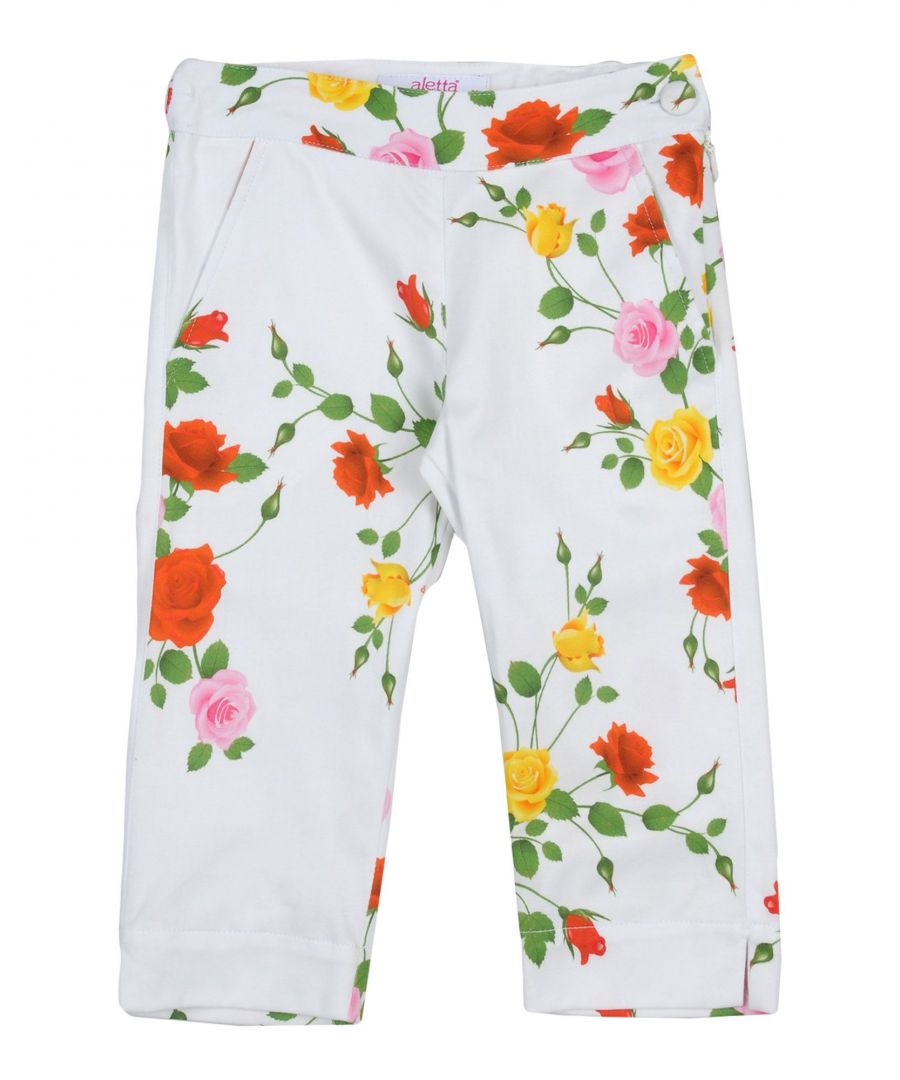 Image for Aletta White Girl Cotton Trousers