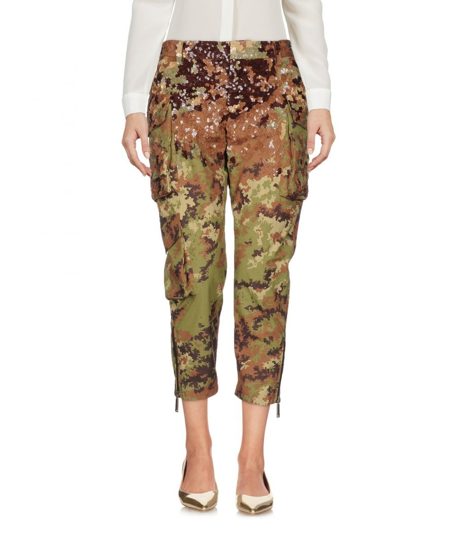 Image for Dsquared2 Military Green Tapered Leg Cargo Trousers