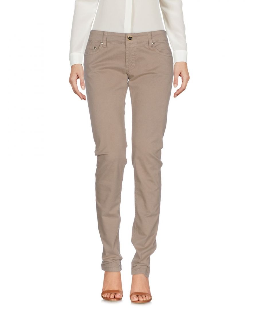Image for Twin-Set Jeans Khaki Cotton Tapered Leg Trousers