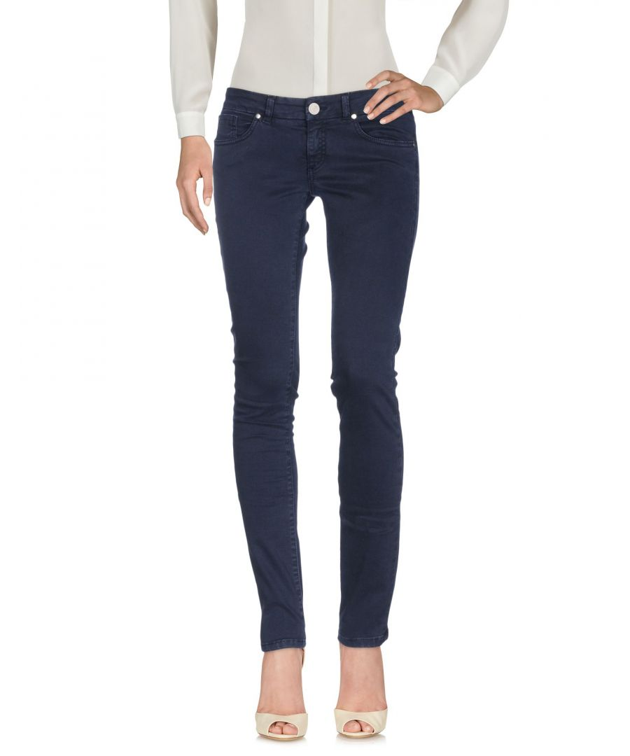 Image for Twin-Set Jeans Dark Blue Cotton Tapered Leg Trousers