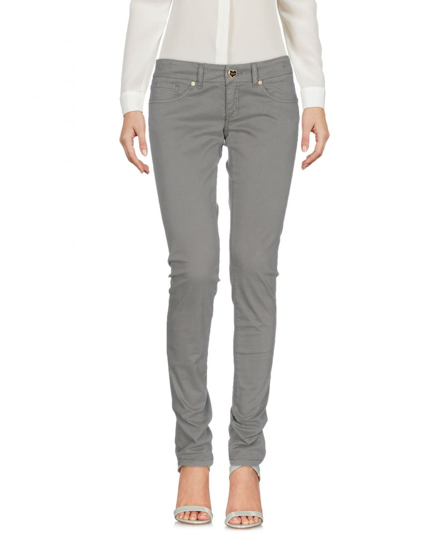 Image for Twin-Set Jeans Lead Cotton Tapered Leg Trousers