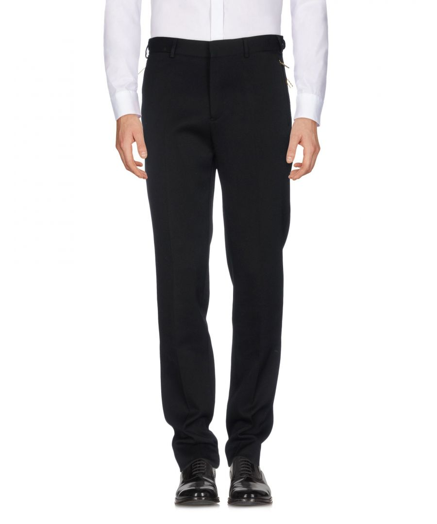 Image for Versace Black Wool Tapered Leg Tailored Trousers