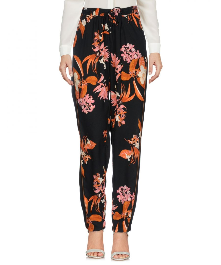 Image for Vero Moda Black Floral Design Tapered Leg Trousers