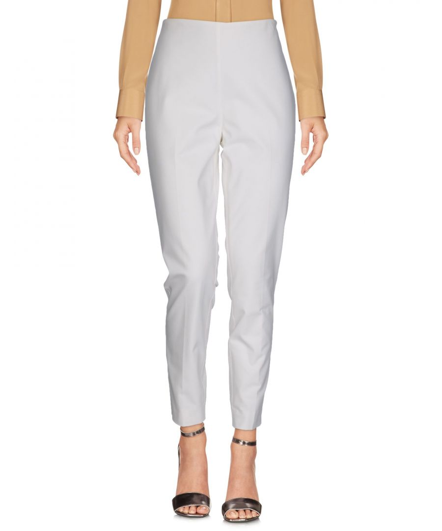 Image for Ralph Lauren Black Label White Cotton Tapered Leg Trousers