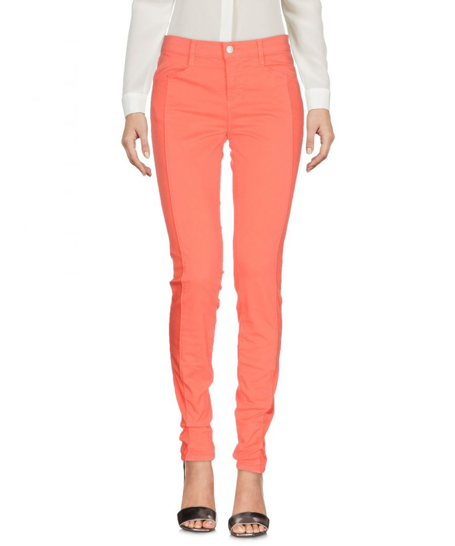 Image for J Brand Orange Cotton Trousers