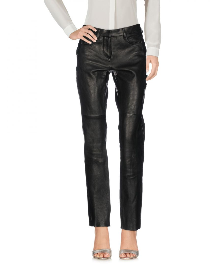 Image for Isabel Marant Black Lambskin Leather Trousers