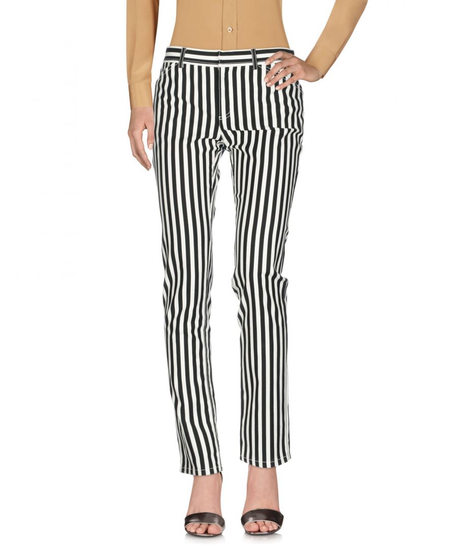 Image for Philosophy Di Lorenzo Serafini White Stripe Cotton Trousers