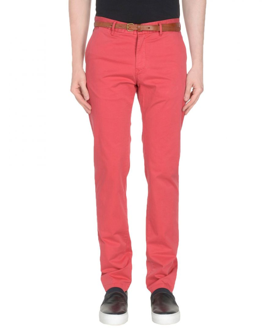Image for Scotch & Soda Brick Red Cotton Chino Trousers