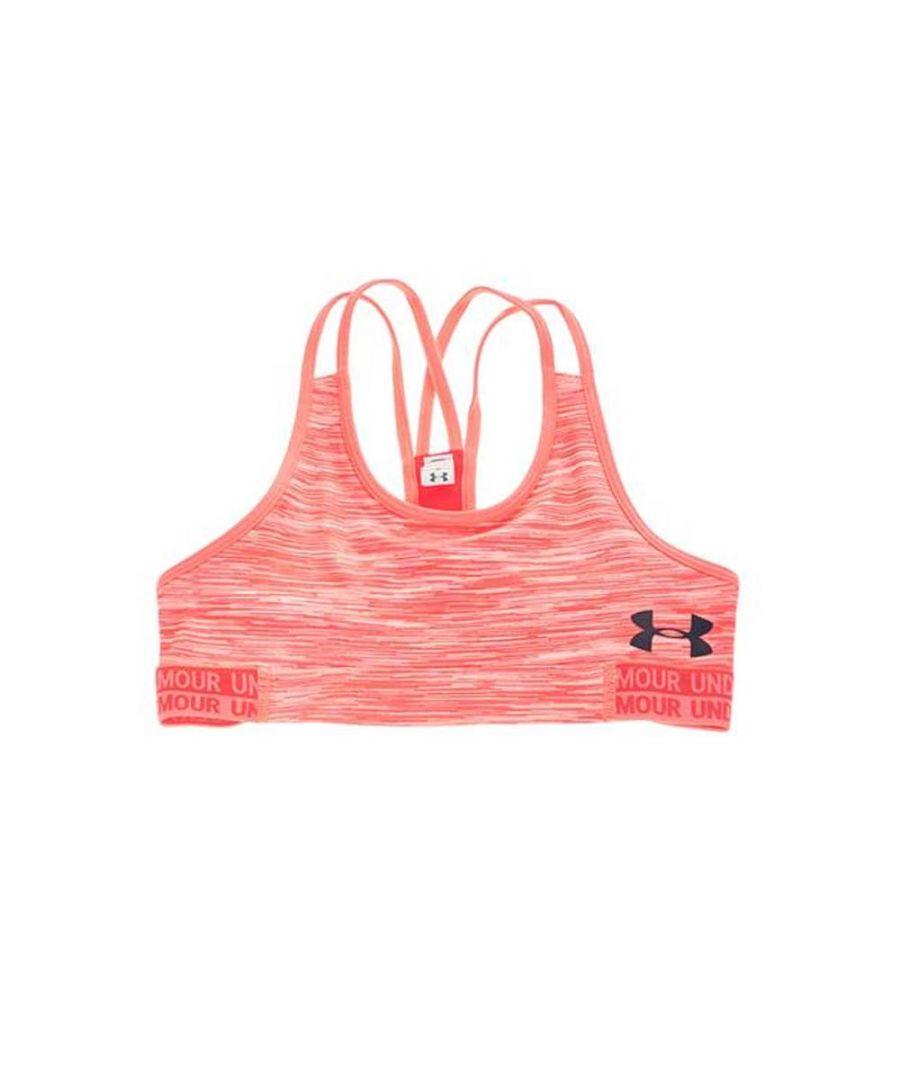 Image for Under Armour HeatGear Novelty Girls Sports Bra Pink