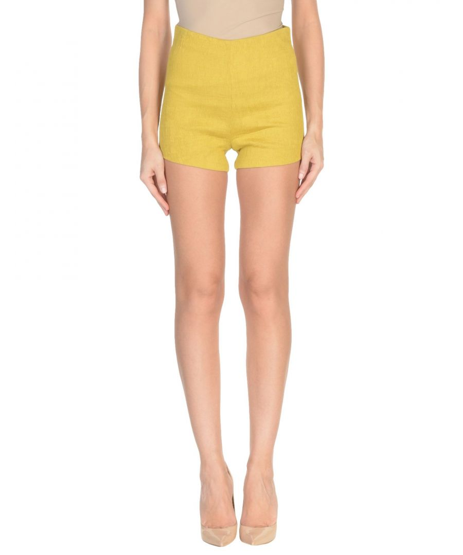 Image for Jovonna Ochre Crepe High Waisted Shorts